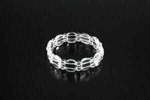 スクウェアカット宝石ブレス ロック クリスタルタイプ[BL_1687] 白水晶 パワーストーン ブレスレット メンズ レディース 効果 ハンドメイド 浄化 種類 意味 アクセサリー クリスタル