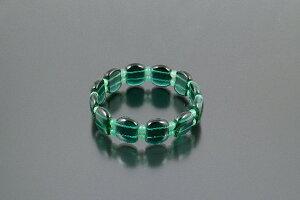 スクウェアカット宝石ブレス グリーン クリスタルタイプ[BL_1689] 緑水晶 アベンチュリン パワーストーン ブレスレット メンズ レディース 効果 ハンドメイド 浄化 種類 意味 アクセサリー