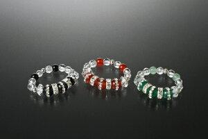 ファンタジー宝石リング3点セット メノウ オニキス 白水晶 メンズ レディース 効果 ハンドメイド 浄化 種類 意味 アクセサリー 指輪 フリーサイズ ラインストーン