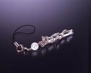 風水龍・水晶ストラップ 白水晶 メンズ レディース 効果 ハンドメイド 浄化 種類 意味 アクセサリー 龍 クリスタル