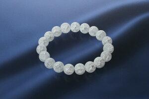 スノーホワイト・ クラック水晶ブレス 爆裂白水晶 パワーストーン ブレスレット メンズ レディース 効果 ハンドメイド 浄化 種類 意味 アクセサリー クリスタル クラック