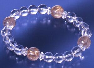 さわやか水晶・天然石ブレス 金針水晶タイプ 白水晶 金針水晶 パワーストーン ブレスレット 送料無料 メンズ レディース 効果 ハンドメイド 浄化 種類 意味 アクセサリー クリスタル ルチ