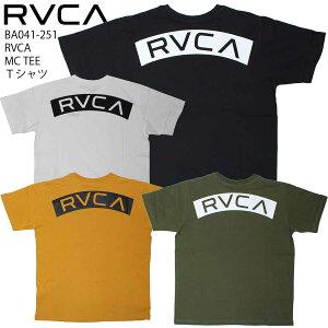 【クーポン配布中】【10%OFF】 正規品 あす楽 RVCA ルカ ルーカ 半袖 Tシャツ BA041-251 RVCA MC TEE バックプリント コットン 綿 半袖Tシャツ 人気 メンズ おしゃれ サーフ ブランド スケート BA041251 送