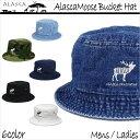 ALASCA 16-17 バケット ハット Moose メンズ レディース Alasca Moose BucketHat デニム 迷彩 カモフラ キャップ 「メ...