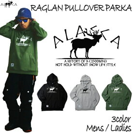 ALASCA パーカー スノーボード RAGLAN PULLOVER PARKA moose 2016-17 スノボー ウェア スノボ スキー 裏起毛 アラスカ メンズ レディース ALASKA banps 送料無料 コーチジャケット あす楽