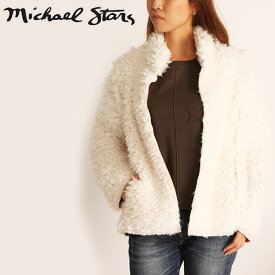Michael Stars ファーブルゾン マイケルスターズ REVERSIBLE SHORT COAT リバーシブルブルゾン ジャケット ショートコート レディース DFR21 CHALK C