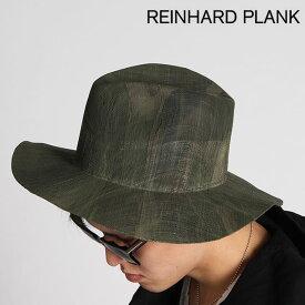 REINHARD PLANK ハット レナードプランク LAILA OPEN/S ストローハット 帽子 天然草 男女兼用 6513971010 CAMO GREY グレー【正規取扱店】【送料無料】