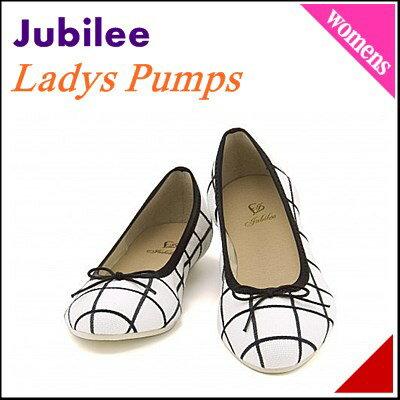 バレエシューズ パンプス 痛くない ぺたんこ 歩きやすい 疲れない レディース 日本製 美脚 カジュアル デイリー ジュビリー Jubilee 21003 ホワイト