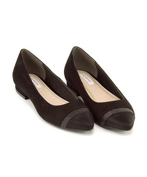 マリ・クレール ビス カッター パンプス 痛くない ローヒール 歩きやすい 疲れない レディース 限定モデル 切り替えフラット クッション性 屈曲性 美脚 カジュアル デイリー トレンド オフィス ビジネス フォーマル ドレス marie claire bis 177003 ブラック