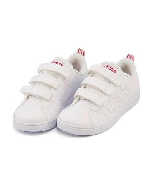アディダス バルクリーン 2 CMF K VALCLEAN 2 CMF K ガールズ adidas BB9978 ランニングホワイト/ランニングホワイト/スーパーピンク