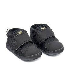 イフミー ベビーシューズ スニーカー 女の子 キッズ 子供靴 運動靴 通学靴 ボア クッション性 カジュアル デイリー スポーツ スクール 学校 IFME 22-9704 ブラック