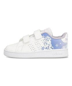 アディダス adidas アドバンコートI ADVANCOURT I フットウェアホワイト/フットウェアホワイト/チョークパープル 女の子 キッズ 子供靴 運動靴 通学靴 アナと雪の女王 ベビーシューズ スニーカー
