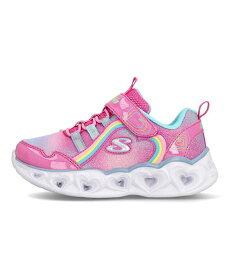 スケッチャーズ SKECHERS Sライツハートライツレインボーラックス S LIGHTS-HEART LIGHTS-RAINBOW LUX ピンク/マルチ 女の子 キッズ 子供靴 運動靴 通学靴 光る靴 スニーカー クッション性 カジュアル スポーツ スクール 学校 302308N