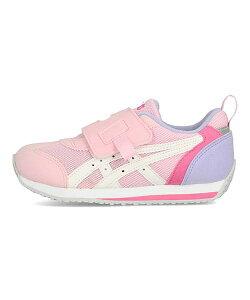 アシックス asics アイダホミニKT-ES2 IDAHO MINI KT-ES 2 ピンク/ホワイト 女の子 キッズ 子供靴 運動靴 通学靴 SUKU2 スクスク ランニングシューズ スニーカー 通気性 クッション性 カジュアル スポー