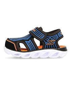 スケッチャーズ SKECHERS Sライトヒプノスプラッシュゾテックス S LIGHTS-HYPNO-SPLASH-ZOTEX ブラック/ブルー/オレンジ 女の子 キッズ 子供靴 運動靴 通学靴 光る靴 サンダル スニーカー クッション性 カジュアル スクール 学校 90524N