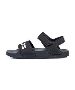 アディダス adidas アディレッタサンダルK ADILETTE SANDAL K コアブラック/フットウェアホワイト/コアブラック 女の子 キッズ 子供靴 運動靴 通学靴 スポーツ サンダル 軽量 クッション性 カジュア