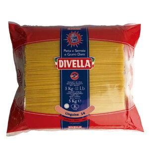 ディヴェッラ リングイネ (約3.10mm×1.35mm) 5kg x 3袋[ケース販売][メモス 食品 イタリア ロングパスタ 606-170]【キャンセル 返品不可】