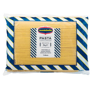 モンテベッロ スパゲッティ 1.4mm [袋] 3kg 3000g x 4袋[ケース販売] 送料無料(本州のみ) [モンテ イタリア パスタ 033824] ギフト プレゼント 敬老の日