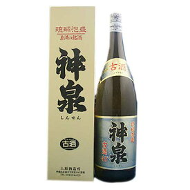 上原 神泉 古酒 43度 1.8L 1800ml x 6本 [ケース販売][上原酒造所 / 泡盛]【増税】