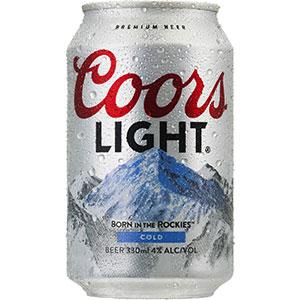 クアーズ ライト 330ml x 24本 [缶] [ケース販売] [2ケースまで同梱可能]