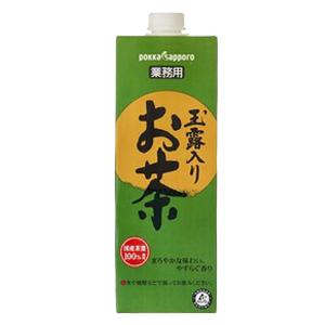 サッポロ 玉露入お茶 業務用 1L x 6本 あす楽対応 [ケース販売]