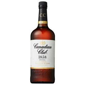 カナディアンクラブ 40度 [瓶] 1L 1000ml x 12本[ケース販売][ウイスキー/40度/カナダ/サントリー]【ホワイトデー】