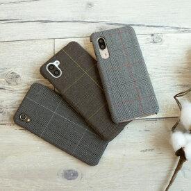 スマホケース 全機種対応ハードケース まるっと全貼り 【 グレンチェック 】 チェック 秋 シック レディース メンズ ケース カバー iphone SE 第二世代 iphone12 iPhoneX AQUOS R5G sense Galaxy S10 Xperia メール便送料無料