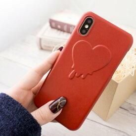 スマホケース 全機種対応 本革 【 Melty Heart 】 ハート 栃木 レザー iPhone Xperia Galaxy XperiaXZ3