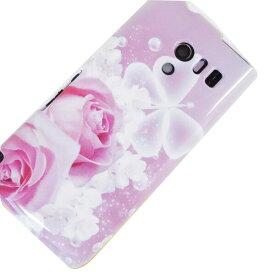 ソフトケース まるっと印刷 ローズロマンス AQUOS PHONE EX SH-04E/Xperia UL SOL22/iPhone5s/iPhone5/GALAXY S4 SC-04E 等