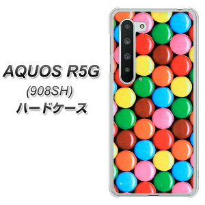 Softbank AQUOS R5G 908SH ハードケース カバー 【448 マーブルチョコ UV印刷 素材クリア】