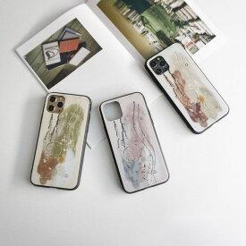 多機種対応 スマホケース ガラス 【 ネイルデザイン風 -ペイント- 】 ニュアンスデザイン アート オリジナル ケース カバー iPhone12 12mini 12Pro Max iphone SE 第二世代 iphone11 iPhoneX AQUOS R5G sense Galaxy S10 Xperia10 II Xperia5 Xperia1 メール便送料無料