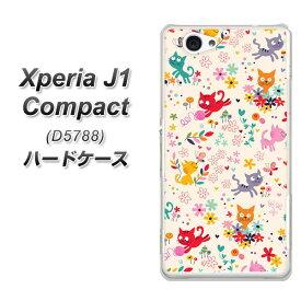 Xperia J1 Compact ハードケース / カバー【693 ネコのあそび場 素材クリア】 UV印刷 ★高解像度版(エクスペリア J1 Compact/D5788/スマホケース)