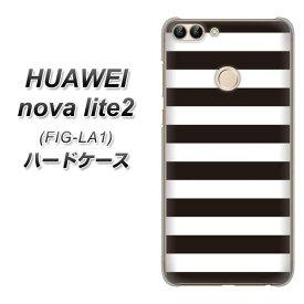 HUAWEI nova lite2 FIG-LA1 ハードケース / カバー【VA944 THE ボーダー黒 素材クリア】 UV印刷 ★高解像度版(ファーウェイ nova lite2 FIG-LA1/FIGLA1/スマホケース)
