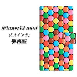 iPhone12 mini 手帳型 スマホケース カバー 【448 マーブルチョコ UV印刷】