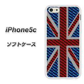 iPhone5c (docomo/au/SoftBank) TPU ソフトケース / やわらかカバー【EK885 ユニオンジャック カーボン 素材ホワイト】シリコンケースより堅く、軟性のある優れたスマホケース TPU素材(アイフォン5C/IPHONE5C/スマホ/ケース/カバー)【P06Dec14】