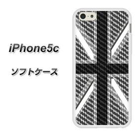 iPhone5c (docomo/au/SoftBank) TPU ソフトケース / やわらかカバー【EK886 ユニオンジャック カーボングレー 素材ホワイト】シリコンケースより堅く、軟性のある優れたスマホケース TPU素材(アイフォン5C/IPHONE5C/スマホ/ケース/カバー)【P06Dec14】