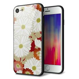 cf1b628d24 docomo au SoftBank iPhone8 アイフォン 8 ケース カバー 背面 ガラス TPU デザイン 【 YJ322 和柄