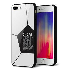 c6b8e9a6b3 docomo au SoftBank iPhone8PLUS アイフォン 8 プラス ケース カバー 背面 ガラス TPU デザイン 【 IB921  SOCCER