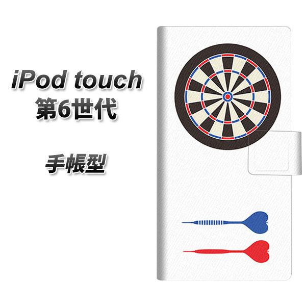 iPod touch(第6世代) スマホケース手帳型/レザー/ケース / カバー【EK931 ダーツ】( iPod touch6 /アイポッドタッチ/手帳式)