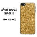 iPod touch 6 第6世代 ハードケース / カバー【1337 ホログラムラメ ゴールド 素材クリア】 UV印刷 ★高解像度版(iPod…