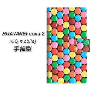 UQ mobile HUAWEI nova 2 手帳型 スマホケース カバー 【448 マーブルチョコ】