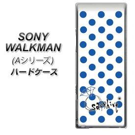 SONY ウォークマン NW-A10シリーズ ハードケース / カバー【OE818 9月サファイア 素材クリア】★高解像度版(SONY ウォークマン NW-A10シリーズ/NWA10/ケース)