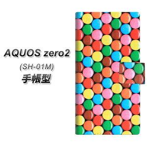 docomo AQUOS zero2 SH-01M 手帳型 スマホケース カバー 【448 マーブルチョコ】