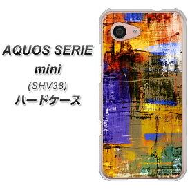 AQUOS SERIE mini SHV38 ハードケース / カバー【609 クラッシュアートBL 素材クリア】 UV印刷 ★高解像度版(アクオス セリエ ミニ SHV38/SHV38/スマホケース)
