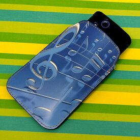 本革(レザー)スマートフォンケース デザイナーVer.【286 3D 音符】【LLロング】Ascend D2/MEDIAS X/Galaxy S4/AQUOS PHONE ZETA/MEDIAS X/Disney mobile/INFOBAR/AQUOS PHONE SERIE/Disney Mobile/ARROWS V/Optimus LIFE等 汎用タイプ