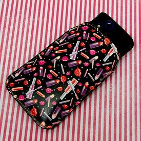 本革(レザー)スマートフォンケース デザイナーVer.【473 ルージュ】【LLロング】Ascend D2/MEDIAS X/Galaxy S4/AQUOS PHONE ZETA/MEDIAS X/Disney mobile/INFOBAR/AQUOS PHONE SERIE/Disney Mobile/ARROWS V/Optimus LIFE等 汎用タイプ