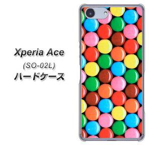 docomo Xperia Ace SO-02L ハードケース カバー 【448 マーブルチョコ 素材クリア】