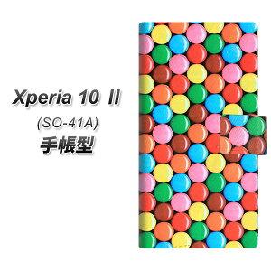 docomo Xperia10 II SO-41A 手帳型 スマホケース カバー 【448 マーブルチョコ UV印刷】