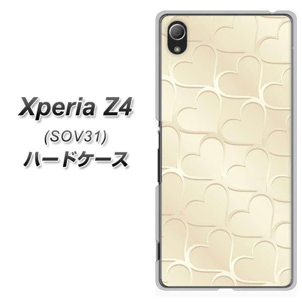 au XPERIA Z4 SOV31 ハードケース / カバー【630 かくれハート 素材クリア】 UV印刷 ★高解像度版(エクスペリアZ4/SOV31/スマホケース)