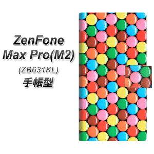 ZenFone Max Pro(M2) ZB631KL 手帳型 スマホケース カバー 【448 マーブルチョコ】